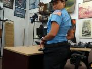 Busty latin police officer fucked hard at the pawnshop