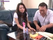 Asian gets toyed with vegetables