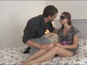 Blindfolded teen Susen screwed real good by her BFs buddy
