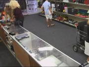 Horny blonde screwed by horny pawn guy to earn more cash