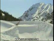 snow jump into the snow bank