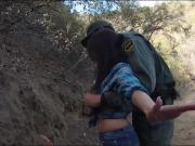 Border patrol agent fucked amateur babe at the border