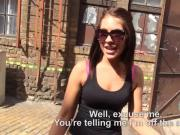 Euro slut nailed in an abandoned place in exchange for money
