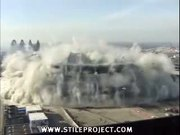huge sports arena demolition