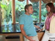Teen Jessie Volt anal threesome sex with her bf and stepmom