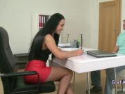 Female agent with nice ass gets banged in casting