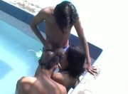 Thai Girls Grab Dick Outside