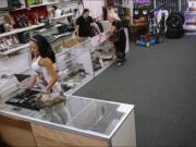 Busty latin girl banged by pervert pawn man at the pawnshop