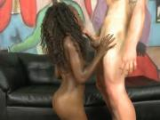 Sexy Ebony Gets All Her Holes Poked Hard By Dildo And Cock