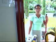 Big ass latina maid fucked on the job