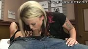 petite blonde fucks the shit out of a customer