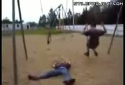 Kid Pwned By Swing Set