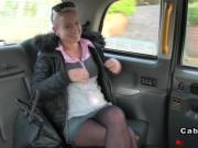 Busty Czech babe in fake taxi voyeur european