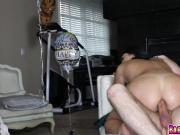 Neighbor Dane drills Kylie Sinners anal on top
