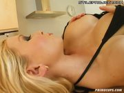 Carolina toys herself in all her holes