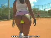black girl booty is so big she can hold a baseball in it