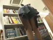 Young SchoolGirl groped in a public library