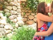 Dani Daniels lesbian tongue kissing