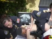 Cops arrested black stud abuse threesome outdoor