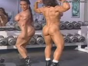 Naked Female Body Builders Show Off Their Muscles