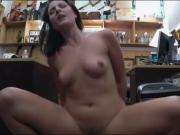 Customers wife convinced to get nailed at the pawnshop
