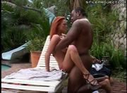 hot white redhead sucking and fucking a black cock