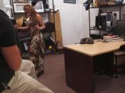 Latina amateur flashing in pawnshop deal