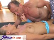 Hot blonde Ivana Sugar having sexy training with her fitness coach