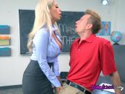 Busty Teacher Bridgette B Seduces Dumb Student