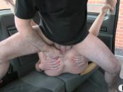 Amateur cheating girlfriend asshole fucked in the cab