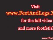 Vanda Lust has feet creamed on