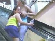 Mall Girls Show Off Tits & Ass