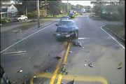 Bus Camera Captures Head-On Collision
