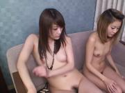 Uncensored nude Japanese friends blowjob threesome Subtitled
