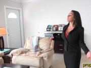 Big curves on this real estate agent who bangs her client