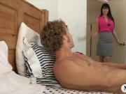 Big boobs mature milf Eva Karera horny threesome action