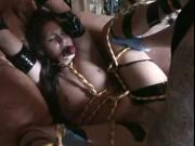 Tied Up Slut Has Her Pussy Punished By Big Cock