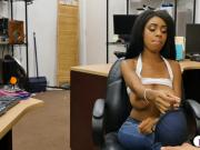 Huge rack black girl fucked by pawn guy in his pawnshop
