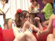 Japanese living dolls pestered by horny men