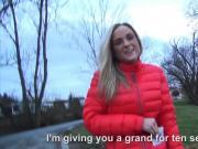 Hot amateur blonde Czech girl pussy screwed for money