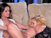 Lesbian Buddies Practice Oral Skills On Each Other