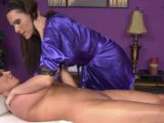 Lesbian masseuse eating clients pussy