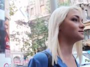 Blonde Russian nurse sucked and fucked in public