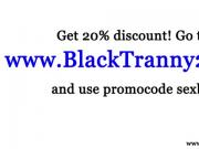Black tranny shemale throatfucks white guy