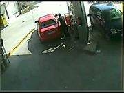 Idiot Drives Away From Gas Station With Hose In Tank
