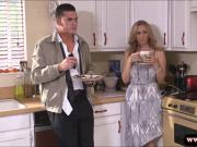 Huge boobs milf Julia Ann deeply fucked in the kitchen