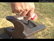 World champion anvil shooter trick