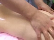 Dripping Gal Gets Wet For Masseur!