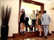 Business man swap their gorgeous women in hardcore orgy