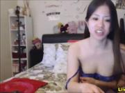 Asian chokes on monster dildo